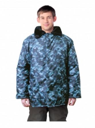 Куртка утепленная КМФ с меховым воротом