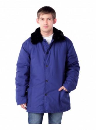 Куртка утепленная с меховым воротом